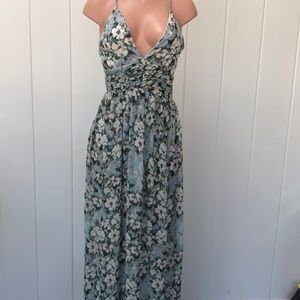 Floral maxi dress/ gown by Soieblu